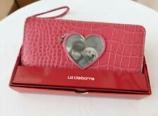 LIZ CLAIBORNE WALLET WITH HEART CUT OUT FOR PHOTO
