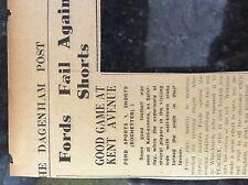 M3-9b ephemera 1941 dagenham ww2 football report dulwich hamlet ford sports game