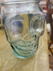 San Miguel Skull Glass / Cup  Halloween Gothic Decor LL