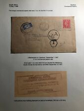 1947 Little Hampton England Postage Due Cover To Cape Town South Africa