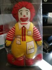 """Vintage 1984 Ronald McDonald Clown Plush Toy 12"""" Doll Sealed in Original Package"""
