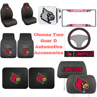 NCAA Louisville Cardinals  Choose Your Gear Auto Accessories Official Licensed