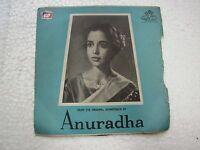 ANURADHA PT RAVI SHANKAR TAE 1041  RARE BOLLYWOOD india OST Hindi EP RECORD  vg+