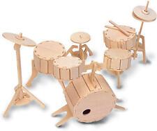 DRUM KIT 3D IN LEGNO Modellazione KIT Modello Puzzle