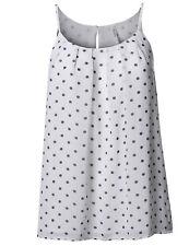FashionOutfit Plus Size Polka Dot Keyhole Back Lined Chiffon Blouse Pleated Top