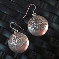Fine Sterling 925 Silver Earrings Handcraft Ethnic Tribal Dome Shape er046
