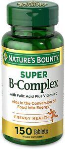 Vitamin B Complex by Nature's Bounty, Super B Complex Vitamins w/ Vitamin C...