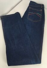 Vintage 70s Womens Virginian Special Denim MOM JEANS High Waisted Sz 14 Dark