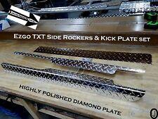 EZGO TXT Golf Cart Diamond Plate Side Rocker Panels & Kick Plate 3 pc set
