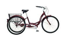 Schwinn Meridian Full Size Adult Tricycle 26 wheel size Bike Trike Black Cherry