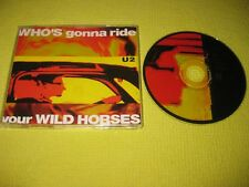 U2 Who's Gonna Ride Your Wild Horses Australian 4 trk CD single ft Remixes