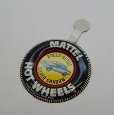 Redline Hotwheels Button Badge Metal Hong Kong Rolls-Royce Silver Shadow R17277