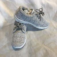 Mia Women's Vamp Sneakers - Taupe & White