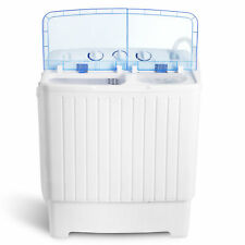 Portable Wash Machine 17.6Lbs Mini Compact Twin Tub Laundry Washer Spin Dryer
