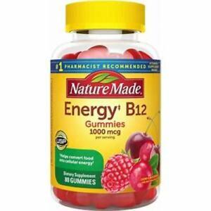 Nature Made Energy‡ B12 1000 mcg Gummies - Cherry & Mixed Berry - 80ct