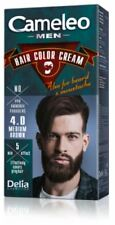 Delia Cameleo Men Hair & Beard Dye Colour Cream No Ammonia 4.0 Medium Brown 30ml