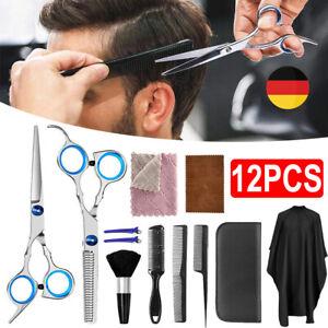 12tlg Profi Friseurscheren Set Haarschere Effilierschere Scissors Haarschneiden