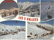Alte Postkarte - Les 3 Vallees