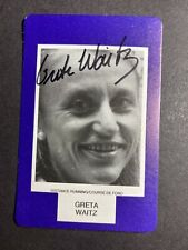 GRETE WAITZ SIGNED FACE-TO-FACE CARD, COA & MYSTERY GIFT (689)
