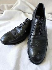 PAUL SMITH black leather oxfords brogues wingtips dress shoes 41 7 8