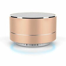 A10 Mini Portable Bass Stereo Bluetooth Wireless Speaker For Smartphone Gold