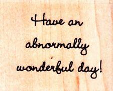 Día maravilloso-sello de goma montado madera-Hampton Art