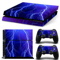 LIGHTNING PS4 PlayStation 4 Skin Vinyl Sticker Decal Controller &Console Cover