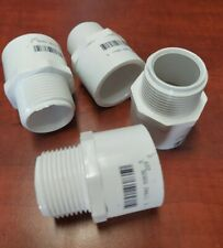 """X4 CHARLOTTE PVC SCH-40 FEMALE SLIP-IN 1"""" TO 1"""" MALE THREADED REDUCER ADAPTER"""