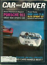 1965 Car & Driver Magazine: Porsche 911/BMW 1800-TI/Alfa Sprint GT/Jim Hall