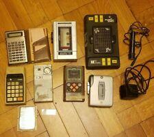 Lot of Vtg Electronics Handheld Radios Games Texas Instruments Mattel Emerson