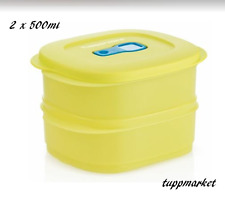 TUPPERWARE Crystalwave Microwave Reheatable Food On The Go2 x 500ml