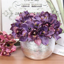 Wedding Home Ornament Silk Orchid Artificial Flowers Bouquet Fake Flower
