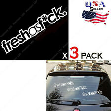 3pcs Funny Cool Slow Fresh As Fck F*ck Drift Racing Window Sticker Decal Vinyl