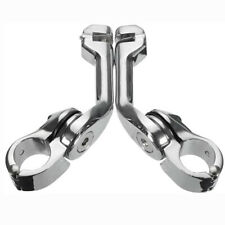 """Long Angled 1-1/4"""" Highway Foot Pegs Mounts Clamps Crash Bar For Harley Touring(Fits: Mastiff)"""