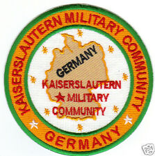 USAF BASE PATCH, KAISERSLAUTERN MILITARY COMMUNITY GERMANY                     Y