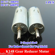 K148 Gearbox Gear Reducer Motor DC3-6V 30~60RPM D Shaped Shaft for Robot Car Toy