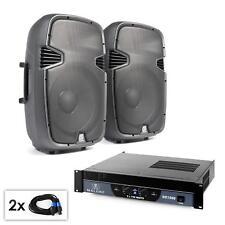 Sistema Audio PA Amplificador potencia 1500W 2 Canales Par Altavoces DJ 300W RMS