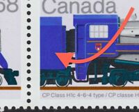 FREAK/Error = GRAFFITI = Block of 4 = LOCOMOTIVE = Canada 1986 #1121 MNH [ec198]