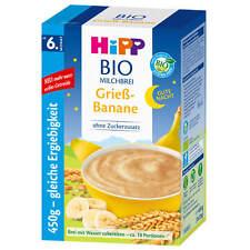 450g Hipp Bio Kacha au Lait Bonne Nuit Semoule Banane Ab 6. Mois Sans