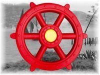 Steuerrad Schiffslenker XXL Lenkrad für Spielturm Piratenlenkrad Lenker rot Neu