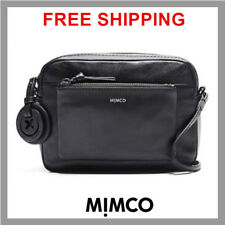 MIMCO SUPERNATURAL BOX HIP BAG MATTE BLACK BNWT DUSTBAG RRP$249 DF