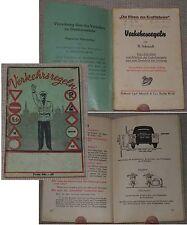 """R.Schmidt VERKEHRSREGELN Reihe """"Die Fibeln des Kraftfahrers"""" Berlin um 1941"""