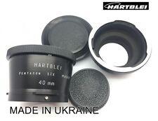 Pentacon Six 6 P6 Kiev 60 88CM Lens to Nikon F Camera Adapter + MACRO 40mm ring