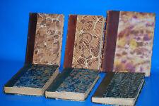 Lote 6 Libros años 1800-ediciones en frances-encuadernados-descatalogados