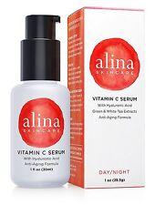 Alina Skin Care VITAMIN C SERUM w/ Hyaluronic Acid Moisturizer, Green-White Teas