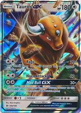 x1 Tauros GX - 100/149 - Ultra Rare Pokemon Sun & Moon Base Set M/NM