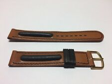New - Brown Black Leather Strap 0 5/8in - and - With Buckle