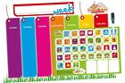 New Monkey & Chop Weekly Activity Planner Visual Display Magnetic Board