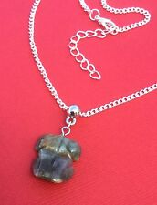 NEW! Indian Agate Gemstone Carved Frog Pendant Unique Necklace - Aussie Seller!