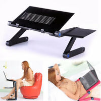Adjustable Vented Laptop Table Laptop Computer Desk Portable Bed Tray Book NEW
